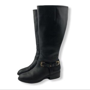 Ralph Lauren Marion Black Leather Riding Boots 7B